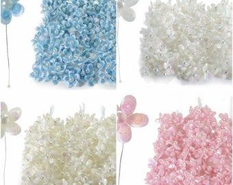 Artificial Flowers Party Favors Millinery Decorative Flowers 60 pcs