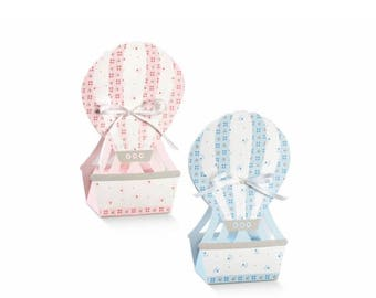 Gift Box Party Favor Baby Shower Hot-air Balloon pcs 10