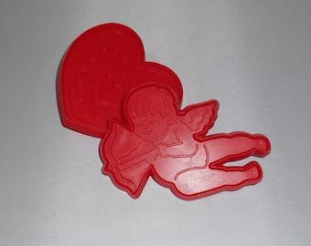 Vintage Cookie Cutters  Hallmark Valentine's Day Heart Cupid