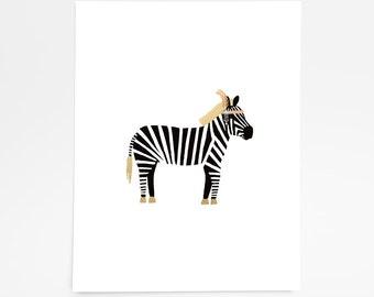 Zebra Flapper - Art Print - 8x10