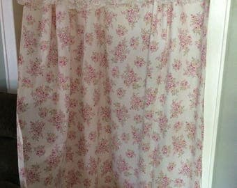 Shabby shower curtain, retired Simply Shabby Chic fabric with lots of lace