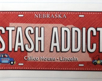Fabric License Plate • STASH ADDICT • 2017 Row by Row Calico House • Lincoln NE