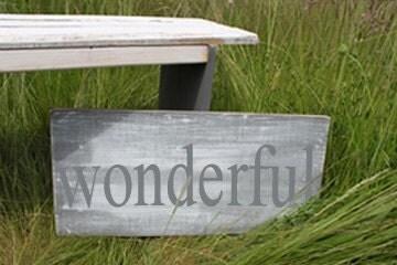 Distressed Aged Pine Wood Wall Art WONDERFUL Sign