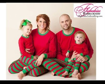 FREE Personalization ~ Personalized Christmas Pajamas - Personalized PJs - Matching Family PJs ~ Matching Family Pajamas
