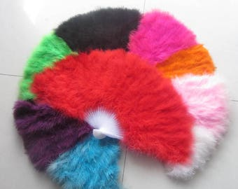 80*45cm Large   Burlesque Dance  feather fan Bridal Bouquet Purple Green Hot Pink White Black Turquoise Orange Pink Red