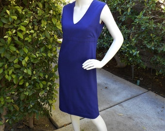 Vintage 1960's Darra of California Royal Purple Dress - Size 4/6