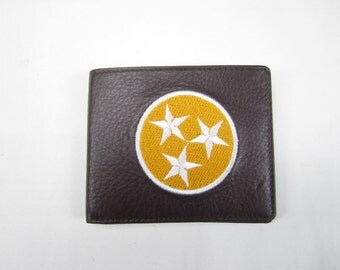 Tennessee vols tristar leather bi fold wallet- hand made premium leather