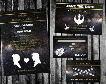 Rebels Star Wars Wedding Invitation, Save The Date, RSVP, And Thank You  Digital