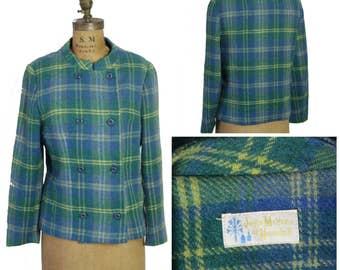 Plaid Wool 1960s Jacket