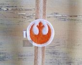 Felt Rebel Symbol on Alligator Clip - Rebellion Star Wars Clip - Embroidered Felt - Hair Clip