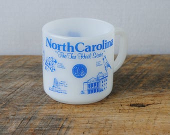 Vintage North Carolina Mug Federal Glass Company