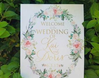Wedding Welcome Sign - Welcome Sign - Wedding Sign - Bridal Shower Welcome Sign, BlushandBirchPaper