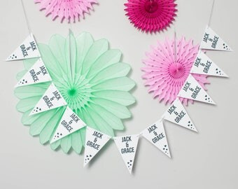 Laminated Bunting // Outdoor Bunting // Party Decoration // Wedding Party Bunting // Card Bunting