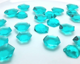 125-150 DIAMOND SHAPED EDIBLE Colored Sugar Gems - Select Any Color