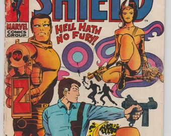 Nick Fury, Agent of Shield vintage comic book Published 1969 Marvel Comics Group