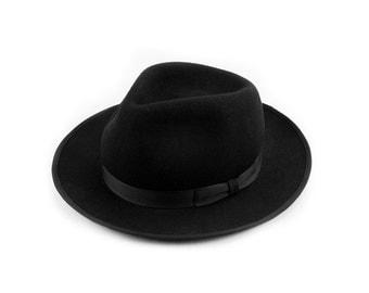 Black Teardrop Top Hat