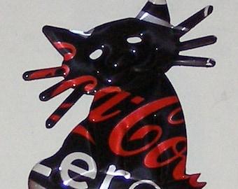 Cat - 'Whiskers' Magnet - Coca-Cola Coke Zero Soda Can (Replica)