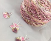 Size 10 - Lizbeth Tatting Thread -  Hand Dyed - Bon-Bon - Your Choice of Length