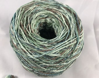 Crochet Cotton - Size 10 - Hand Dyed - Mountain Side - Large Project Size - 150, 200, 250 or 300 Yards