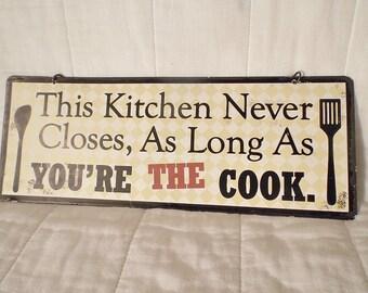 Vintage Metal Kitchen Sign