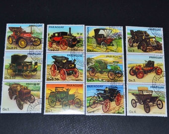 75 Car and truck stamps from around the world