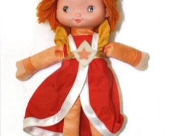 """Rainbow Brite Vintage LaLa Orange 10"""" doll"""