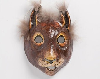 New Year paper squirrel mask