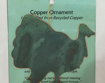 Turkey Ornament - Crafted from Recycled Copper