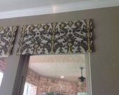 FAUX Hobble-Shade/Valance Custom Made To Order - In Your Own Fabric Fabric