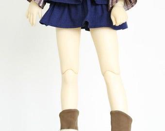 SAYOKO outfit fit 10/13 SD super dollfie 1/3 BJD - Double cake skirt - Dark Blue (No.B366)