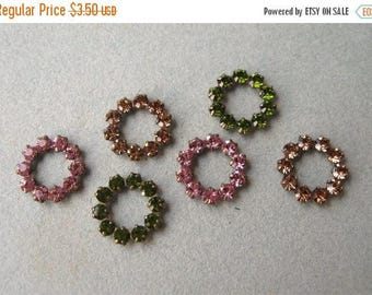 SALE Swarovski 11mm Open Circle Findings Connectors You Choose Color Rose Lt Colorado Olivine (6)