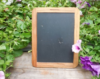Vintage two sided black slate chalkboard