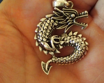 Sterling Dragon Pendant