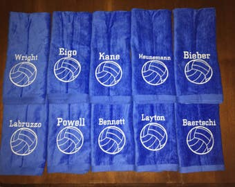 Personalized volleyball towel, great seller, volleyball team towels, volleyball gift, pin towels, message for team orders
