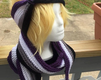 Asexual Pride Scarf & Earwarmer Set