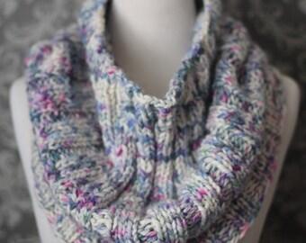 Knitting Pattern - Elegant Ribbed Knit Cowl Pattern - Oversized Knit Scarf - Easy Knitting Pattern - Knit Infinity Scarf Pattern - PDF 445
