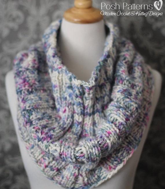 Knitting Pattern - Elegant Ribbed Knit Cowl Pattern ...