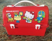 Vintage Red 1983 Hello Kitty Lunchbox
