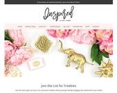 Feminine WordPress Theme - Inspired