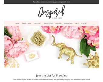 Inspired: Feminine WordPress Theme Built for Beginner and Intermediate Bloggers