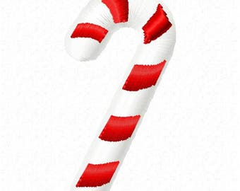 Candy Cane Machine Embroidery Design