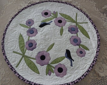 Songbirds and Blooms, Little Spring  Quilt, Floral quilt 0125-01