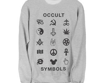 Occult Sweater - Occult Symbols Unisex Sweatshirt