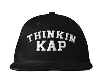 Thinkin' Kap Baseball Hat, Embroidery Black Hat