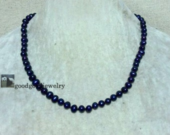 peacock black Pearl Necklace, select length 6-6.5mm freshwater Pearl Necklace,single strand Pearl Necklace,Wedding bridesmaid jewelry