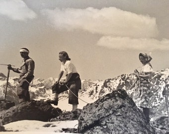 "23 Black and White B & W Photos 1930 1940 Family Vacation in Bavaria, Alps, Austria     7"" x 9"""