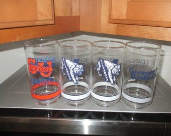Four Big East Basketball Glasses by Getty
