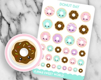 Kawaii Donuts | Planner Sticker Sheet