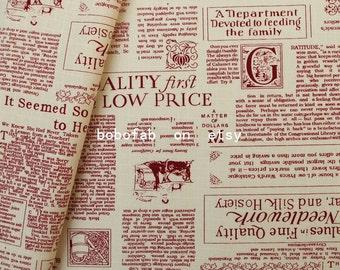 6325B - 1 yard Cotton Linen Blend Fabric - Fashion newspaper