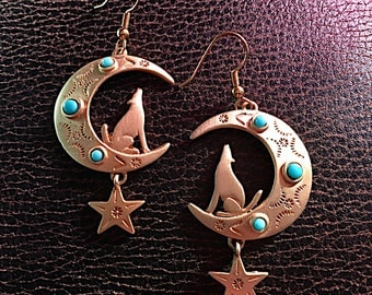 Howling at the Moon Earrings